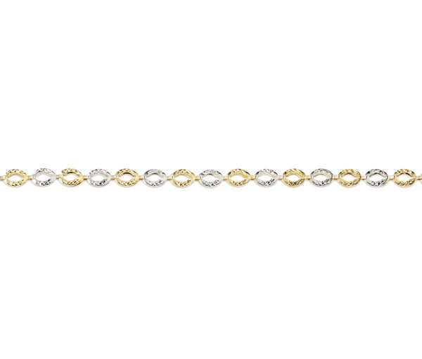 Bracelet 10k 2t taille diamant 3.9mm 7.5