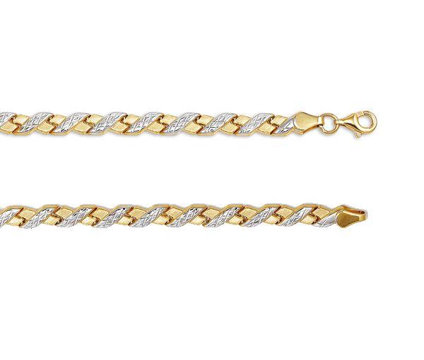 Bracelet 10k 2t taille diamant 5mm 7.5''