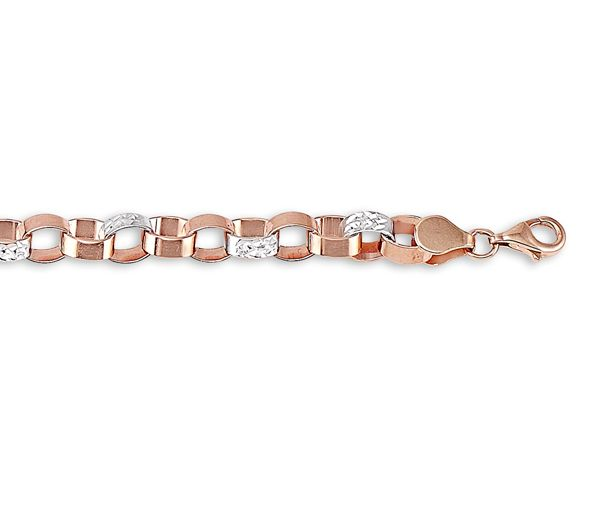 Bracelet 10k rose/blanc 5,7mm 7.5''